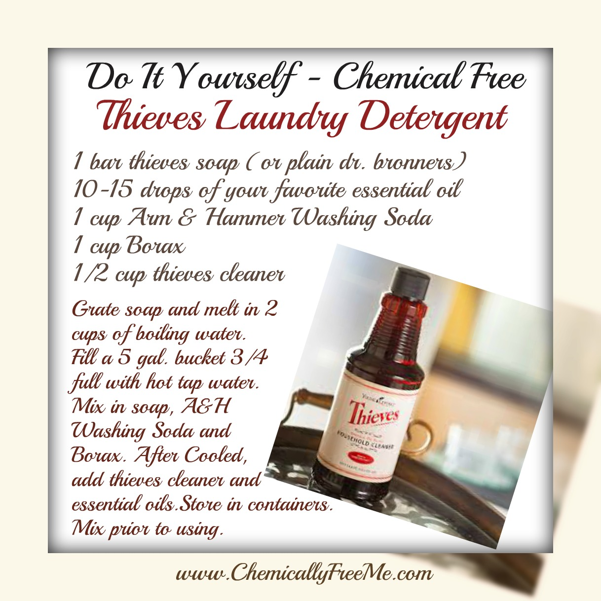 Diy chemically free thieves laundry detergent diy laundry cleaner ribbet collage solutioingenieria Gallery